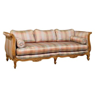 Mid-Centery Modern Carved Wood Louis XV Sofa