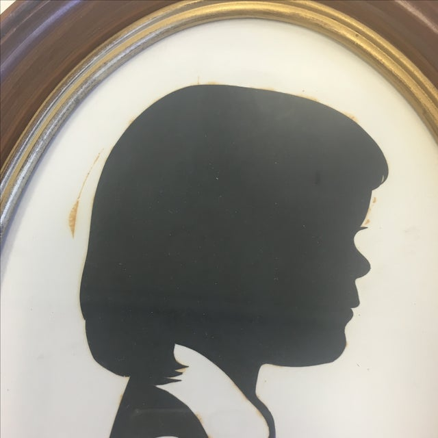 Vintage Boy & Girl Silhouettes, 1972 Signed - Pair - Image 8 of 11
