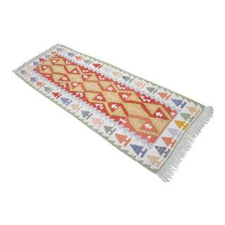 Vintage Turkish Handmade Kilim Runner Rug - 2′7″ × 6′10″