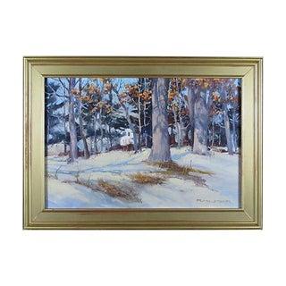 Rich Hilker Winter Scene Oil Painting