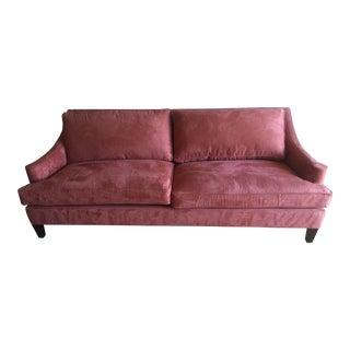 Arhaus Burnt Orange Velvet Sofa
