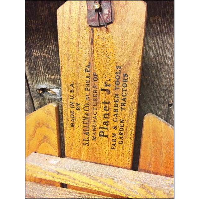 Vintage Weathered Wood & Metal Runner Sled -- Flexible Flyer Model 51J - Image 10 of 11