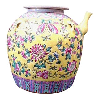 Famille Jaune Porcelain Kendi Jar