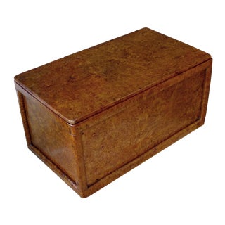 A Large-Scaled and Well-Figured English Rectangular Solid Amboyna Box