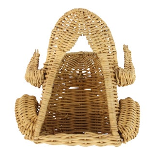 Wicker Frog Garden Tool Basket - Set of 6