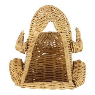 Wicker Frog Garden Tool Basket - Set of 6