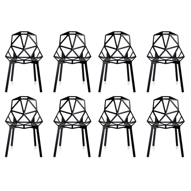 Magis Black Chair One - Set of 8 - Image 1 of 10