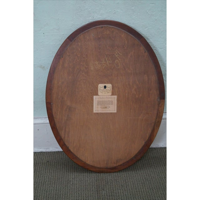 Stickley Cherry Valley Oval Mirror - Image 4 of 5