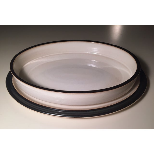 Mid-Century Ceramic Casserole/Under Plate - Image 2 of 8