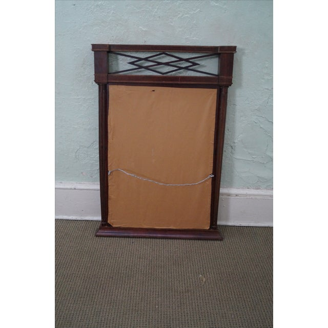 Antique mahogany regency style hanging wall mirror chairish for Antique style wall mirror