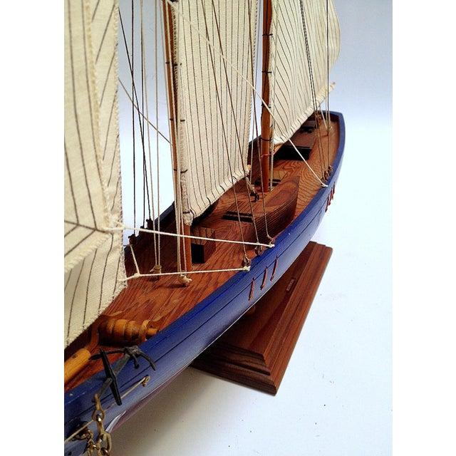 Image of Handmade Wooden Model of a Bluenose Schooner