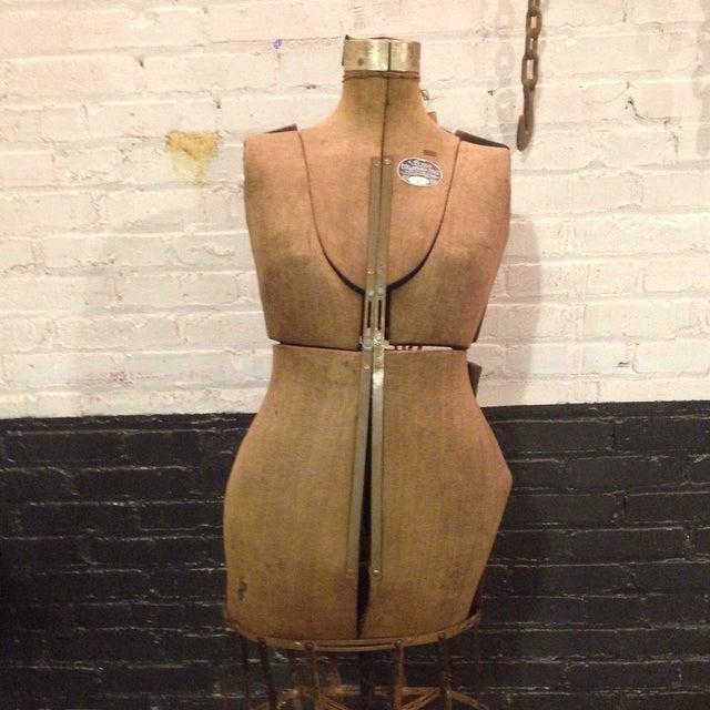 Antique Adjustable Dress Form Mannequin - Image 4 of 11
