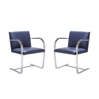 Mies Van Der Rohe Brno Flat-Bar Chairs - A Pair