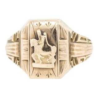 """1939"" 10 K Gold Ring"