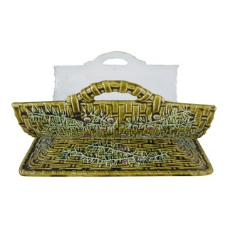 French Majolica Asparagus Cradle