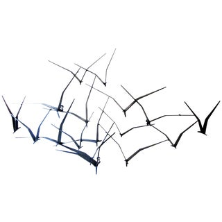 Curtis Jere Black Metal Flying Birds Wall Art