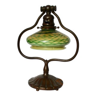 Tiffany & Co. Bronze Lamp and Matching Shade