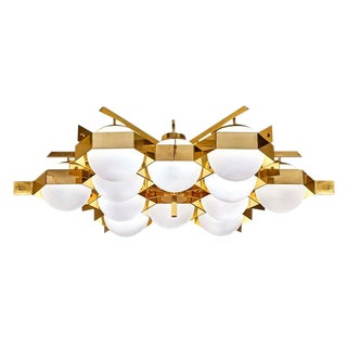 "Customizable ""Esagono"" Flush Mount Fixture by Fedele Papagni for Gaspare Asaro"