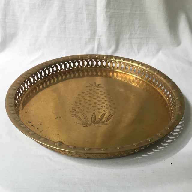 Brass Pineapple Tray - Image 2 of 6