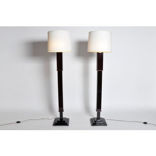 Pair of Floor Lamps with a Step Base