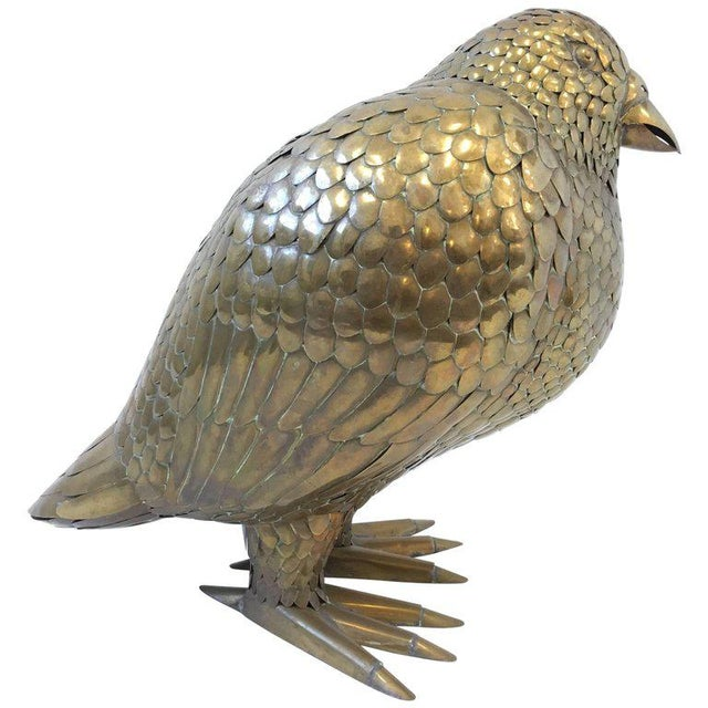 Large Brass Bird Sculpture by Sergio Bustamante - Image 8 of 8