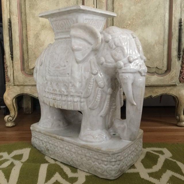 Elephant Shaped Terracotta Garden Seat / Stool - Image 4 of 11