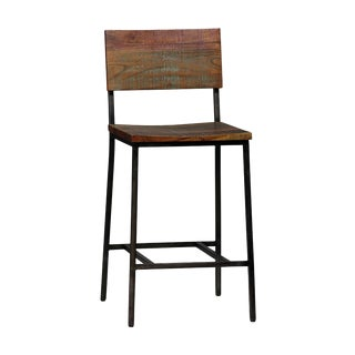 Reclaimed Wood & Iron Bar Stool