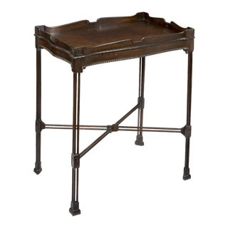 Mahogany Chippendale Silver Table