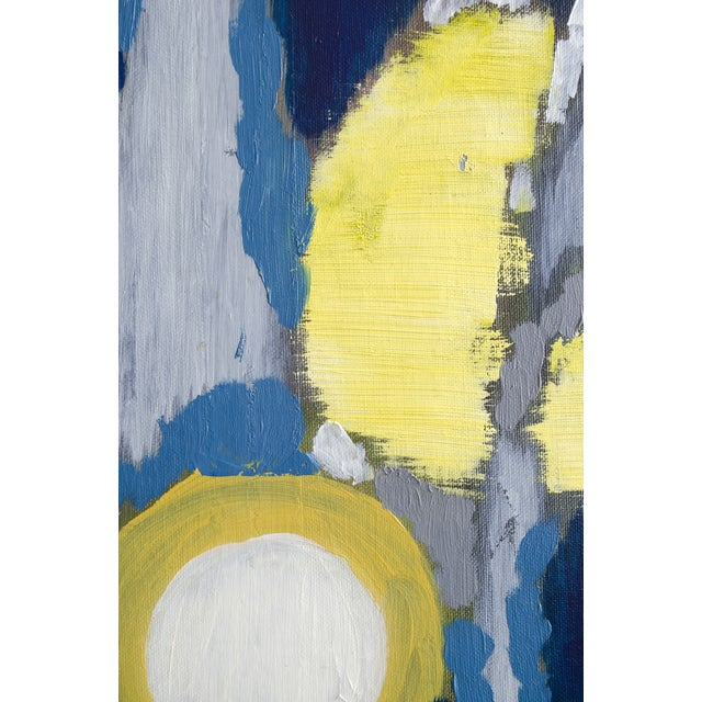 "Blue and Yellow ""Lumieres"" French Painting - Image 3 of 3"