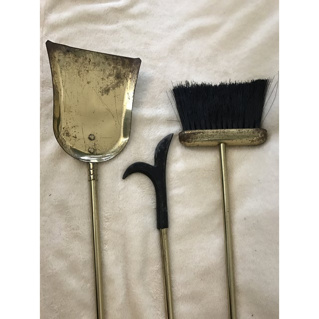 Brass & Black Marble Fireplace Tools Set - Image 5 of 8