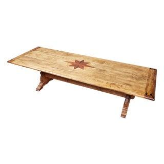Starburst Inlay Dining Table