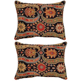 Aztec Upscale Needlepoint Pillows - A Pair