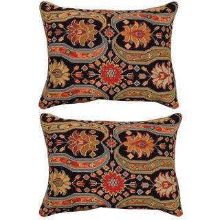 Aztec Upscale Needlepoint Pillows - A Pair