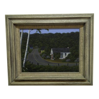 Original Framed Painting on Board The Road North by G. Von Trier
