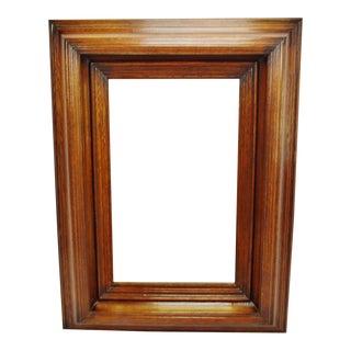 Large Vintage Wood Framed Bevelled Mirror