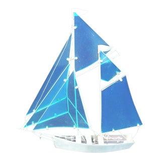 Contemporary Glass & Metal Sailboat