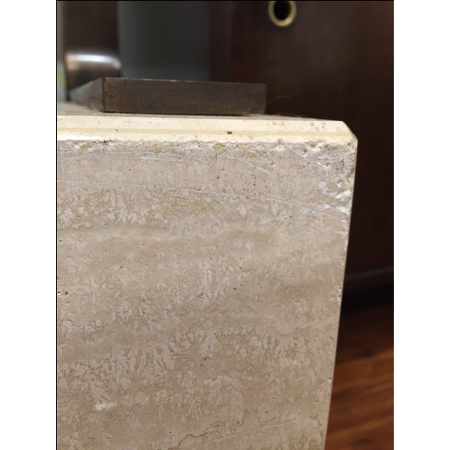 Vintage Travertine Cube Table - Image 7 of 7