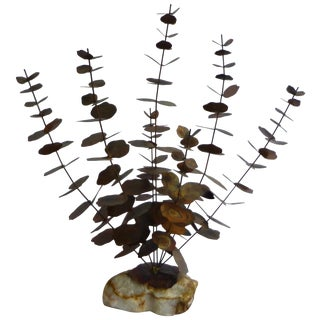 Bijan Mid-Century Metal Flower Sculpture