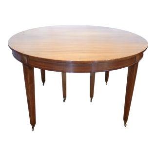 Brass & Mahogany Dining Table