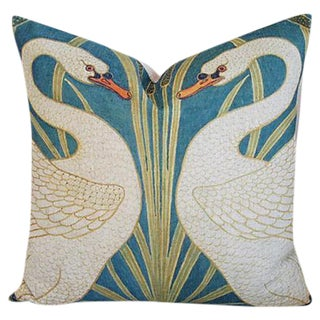 Swans Linen Down & Feather Accent Pillow