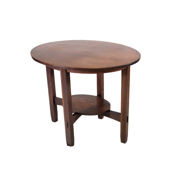 Image of Stickley Brothers Large Oval Lamp Table