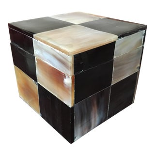 Vintage Checkered Horn Decorative Stash Box