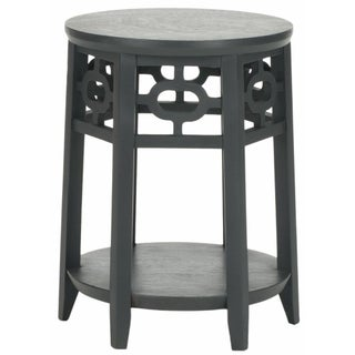 Side Table with Lattice Detailing - Grey