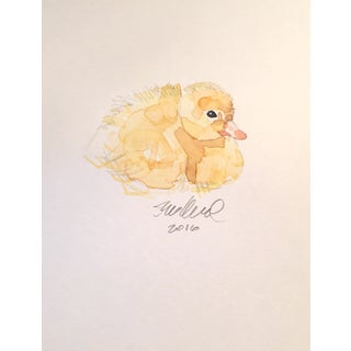 Resting Duckling Watercolor