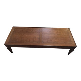 Vintage Baker Furniture Rectangle Wooden Coffee Table