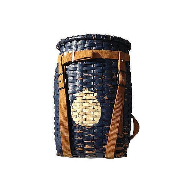 Primitive American Pack Basket - Image 1 of 4