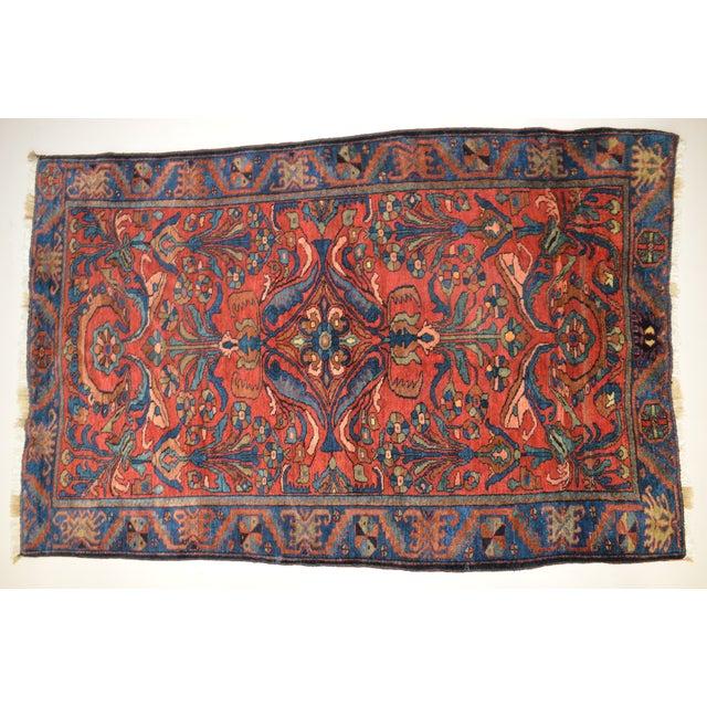 """Antique Persian Lilihan Rug - 5'5"""" x 8'9"""" - Image 3 of 6"""