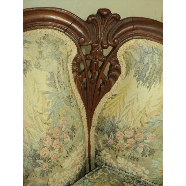 Antique French Provincial Sofa & Chair - A Pair - Image 9 of 11