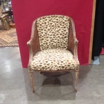Image of French Provencial Upholstered Cane Chair