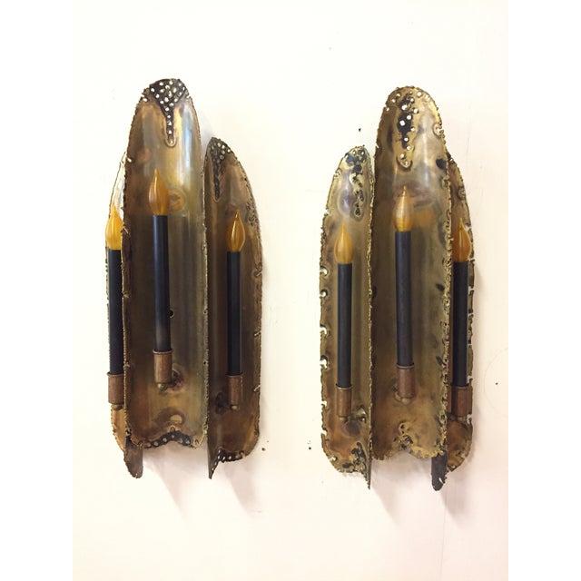 Tom Greene Torch Cut Sconces for Feldman Co. - a Pair - Image 2 of 6